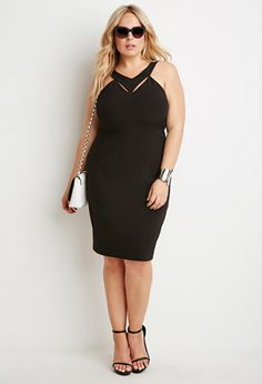 Cutout V-Front Dress | Forever 21 PLUS | #forever21plus