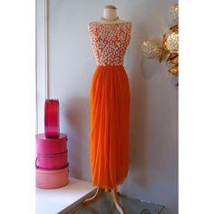 Buy Fancy Designer Orange Georgette Embroidered Kurti online | Craftsvilla
