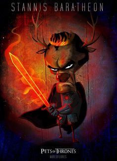 Game of Thrones: Cast A Large Shadow, King Stannis as an angry stag >:(