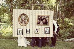 Photo booth idea - LOVE it!