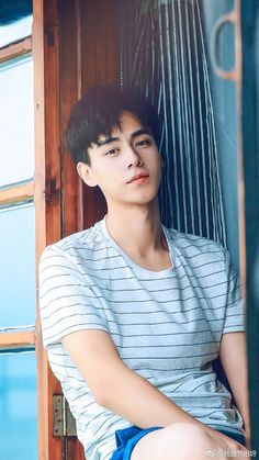 Newcomer model turned actor Hu Yitian! Watching his series 'A Love So Beautiful' and I'm loving it!!!