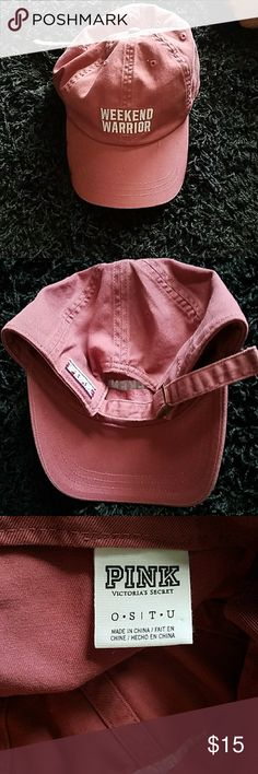 Victoria's secret baseball hat Pink baseball hat, one size, adjustable in the back. Excellent condition :)vic Victoria's Secret Accessories Hats