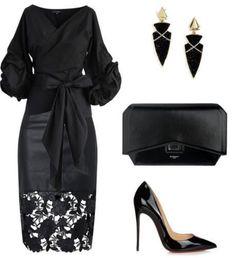 Dress nigth black chic for 2019 Trend Fashion, Look Fashion, Autumn Fashion, Fashion Ideas, Feminine Fashion, Fashion Vest, Fashion Sandals, 50 Fashion, Petite Fashion