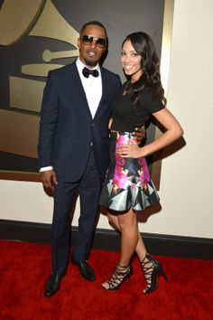 Jamie-Foxx & daughter Corrine at the Grammy Awards