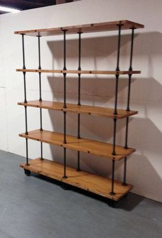 Industrial Iron Pipe Shelving Custom Sizing and Finishes Available Message Directly for Details and Pricing Diy Furniture Flip, Shelves, Industrial Bookcases, Iron Furniture, Industrial Shelf Diy, Retail Shelving, Storage Shelves, Diy Industrial Bookshelf, Shelving