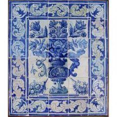 8011 Portuguese antique tiles mural XVII