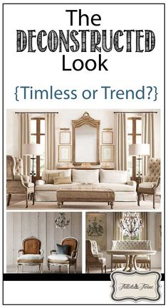 TIDBITS&TWINE: Is the deconstructed look a trend or timeless?  You might be surprised that you already own pieces in this style!