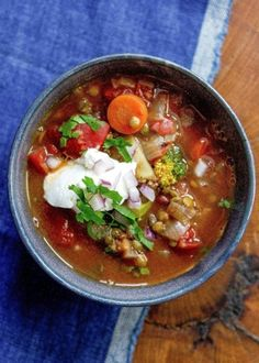 Use ingredients you already have at home to make this delicious Lentil Soup!  This recipe calls for canned tomatoes.