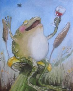 Frog art print The Good Life Giclee print on by DarlingRomeo