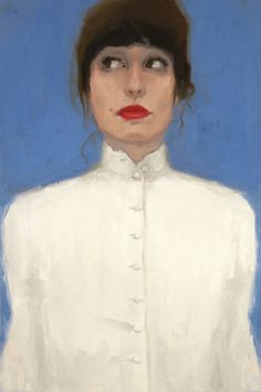 "Saatchi Art Artist Aldo Cherres; Painting, ""White Shirt"" #art"