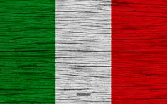 Download wallpapers Flag of Italy, 4k, Europe, wooden texture, Italian flag, national symbols, Italy flag, art, Italy