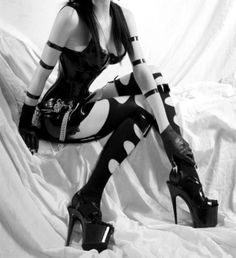 Sexy Outfits, bdsm, sexy girl, black dress, cyber style, goth style, futuristic style, latex, cybergoth, gothic, black clothes by FuturisticNews