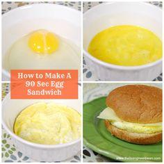 90 Second Breakfast Sandwich
