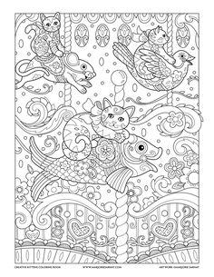 Carousel : Creative Kittens Coloring Book by Marjorie Sarnat
