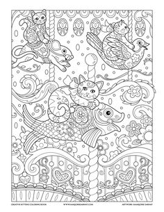 Carousel : Creative Kittens Coloring Book by Marjorie Sarnat