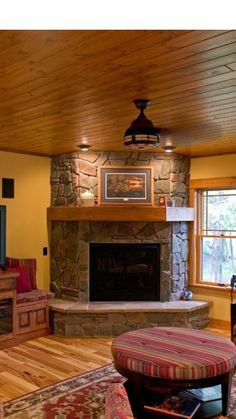 Image Result For What To Do With A Corner Fireplacea
