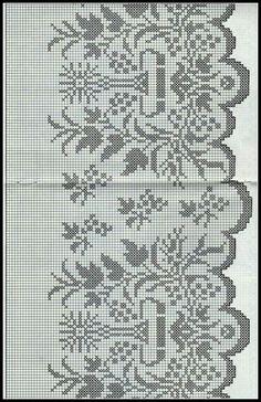 Crochet Boarders, Crochet Edging Patterns, Filet Crochet Charts, Cross Stitch Patterns, Vintage Crochet, Diy Crochet, Crochet Doilies, Faith Crafts, Bible Crafts