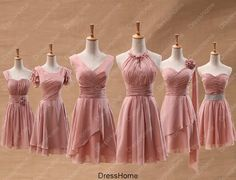 Bridesmaid Dress  Blush Bridesmaid Dress / Short by DressHome, $89.99 comes in mint