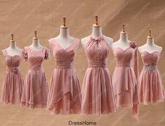 Bridesmaid Dress  Blush Bridesmaid Dress / Short by DressHome, $89.99 comes in mint