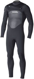 Xcel Men's 3/2mm X2 Axis Quick Dry Fullsuit, All Black with Silver Ash Logos, Large -- You can get more details by clicking on the image.