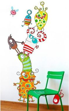 sticker infantil os monstrinhos