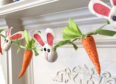 Bunnies and Carrots Garland @joannaksteele - possible project?? :)