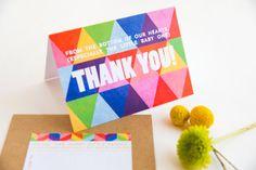 Rainbow Geometric Baby Shower Invitations The Goodness13