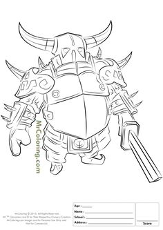 13 Best Clash Of Clans Coloring Pages Images Coloring Pages