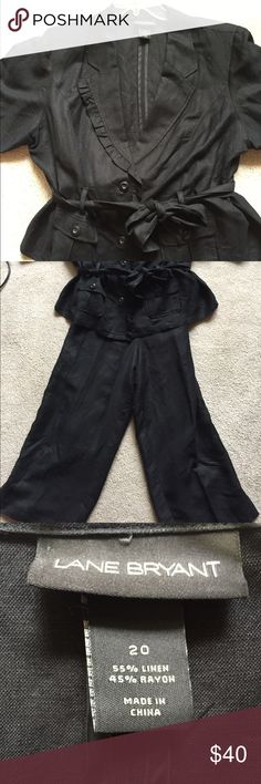 🎉🎉SALE🎉🎉Lane Bryant Pantsuit- Size 20 Excellent used condition. Beautiful suit, comfortable and cool linen/rayon blend. Lane Bryant Dresses