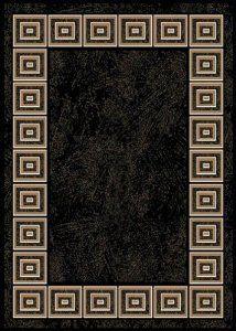 Optimum BCF Black Contemporary Rug