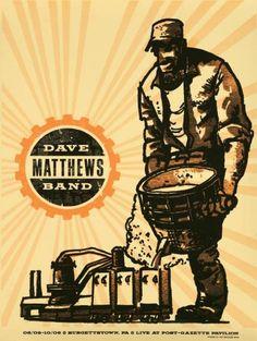 Dave Matthews Band Date: Venue: Post-Gazette Pavilion City: Burgettstown State: PA Banners Music, Dave Matthews Band Posters, Decoder Ring, Concert Posters, Music Posters, Tour Posters, Poster Pictures, Music People
