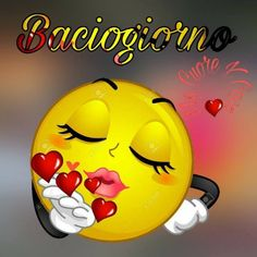 Smileys, Kiss Emoji, Animated Emoticons, Good Morning Quotes For Him, Make Him Miss You, Italian Memes, Love You Gif, Good Morning Sunshine, Cricut Tutorials