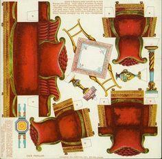 Maqueta de una comoda recortable de un mueble auxiliar - Muebles salita de estar ...