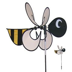 #Bee Momma Bug Windee Wheelz come with an 18.5 inch assembled Windee Wheel, a 35 inch 3-section fiberglass pole and 7 inch ground stake. Windee Wheelz are made with weather resistant polyester fabric and silk screened graphics. They also feature a pivoting pole to keep them facing the wind. Momma Windee Wheelz are easy to assemble and are sure to please! #windspinner #windspinners #gardendecor #yarddecor