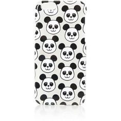 TOPSHOP Multi Panda Print iPhone 6 Case ($15) ❤ liked on Polyvore featuring accessories, tech accessories, phone, phone cases, tech, clear and topshop