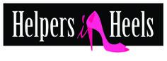 Helpers in Heels female charity workers - logo design by RIS Designs. www.risdesigns.com.au Graphic Design Studios, Logo Design, Digital Media, Charity, Branding, Logos, Female, Heels, Heel