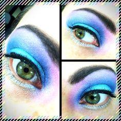 #ecotoolsbrushes #nyxhdprimer #shanycosmetics #urbandecay #jessesgirleyedust #eyemakeup #eyes #eyebrows #eyeshadow #eyeliner #eyeglitter #eyeballoftheday #makeup #makeupartist #makeupoftheday #makeuplover #iamshortandgeeky #aqua #pink #purple #shimmer #blendingcolors #mahoushoujolife #ilovecolors #pastelprincess