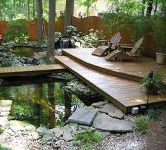 Backyard Garden Design, Ponds Backyard, Backyard Ideas, Garden Ponds, Garden Water, Modern Backyard, Backyard Designs, Modern Pond, Water Gardens