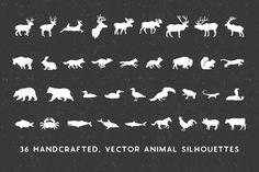 Handmade Animal Silhouette Pack by Jackrabbit Creative on @creativemarket