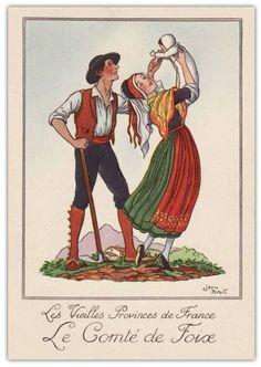 Héraldie: Les costumes traditionnels des provinces de France