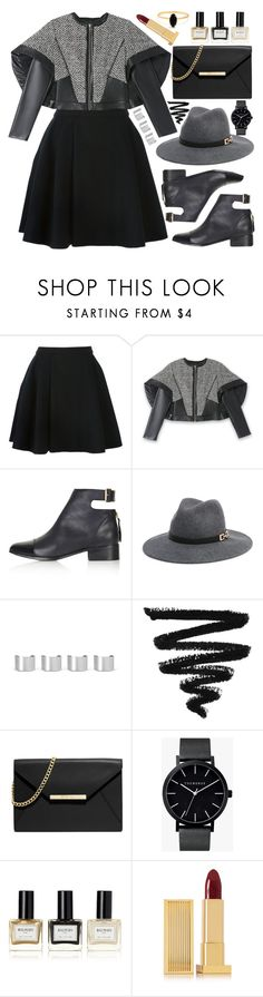 """Soirée de Luxe with bebe Holiday: Contest Entry"" by ssm1562 ❤ liked on Polyvore featuring Avelon, Bebe, Topshop, Maison Margiela, MICHAEL Michael Kors, The Horse, Balmain, Lipstick Queen and Bing Bang"
