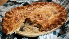 This gorgeous pie plays on the wonderful affinity between pork and apples. The fruit gives a subtle sweetness to the cider-enriched gravy and the sage lends an aromatic note. Equipment and preparation: you will need a litre& pie dish and a pie funnel. Pork Pie Recipe, Apple Pie Recipes, Pork Recipes, Meal Recipes, Yummy Recipes, Thing 1, Great British Bake Off, Food Dishes, Dishes Recipes