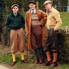 Plus Fours times 3. Very Stylish.