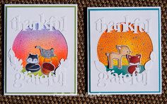 lawn fawn, papertrey ink, thanksgiving, Distress ink pads