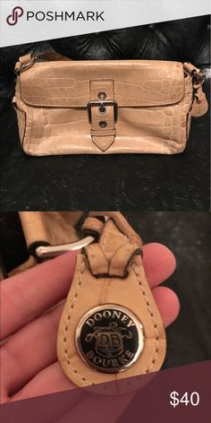 Dooney & Bourke tan Croco purse Small shoulder bag, tan croc leather, great condition! Dooney & Bourke Bags Shoulder Bags