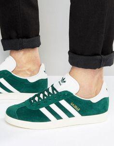 new concept b87a0 16d37 adidas Originals Gazelle Sneakers In Green BB5490
