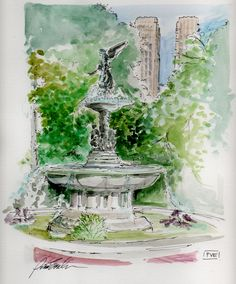 Bethesda Fountain in Central Park by me, pve design