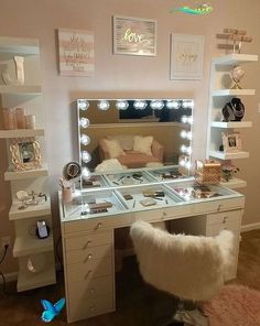 SlayStation® Pro 2.0 Tabletop + Vanity Mirror + 5 Drawer Units Bundle (Pre-order Bright White Now. Expected ship date: June 30th) - Impressions Vanity Co. SlayStation®️️ Pro 2.0 + Glow Pro Vanity Mirror & 5-Drawer Units Bundle • Impressions Vanity Co.<br> Lighted Vanity Mirror, Makeup Mirror With Lights, Vanity Decor, Vanity Mirrors, Table Mirror, Vanity Set, Make Up Mirror, Mirror Floor, Teenage Girl Bedrooms