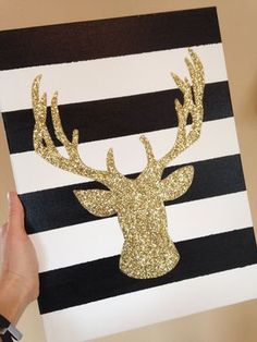 Maybe white and red or white and green stripes with a glitter reindeer, Santa, or elf silhouette for Christmas?