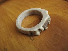 Real Deer Antler ring for the Woodland Wanderer - size 9 - 9.5. $17.00, via Etsy.